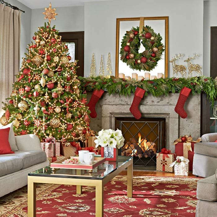 Homes Decorated For Christmas On The Inside best 25+ christmas living rooms ideas on pinterest | ornaments for