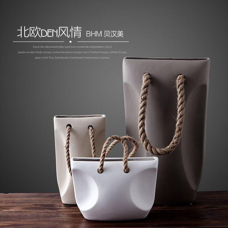 Купить товарNordic современный минималистский декор Домашнего Интерьера мягкая керамическая ваза стол трех частей цветка украшения в категории Вазына AliExpress. (bhmbo. jiyoujia)