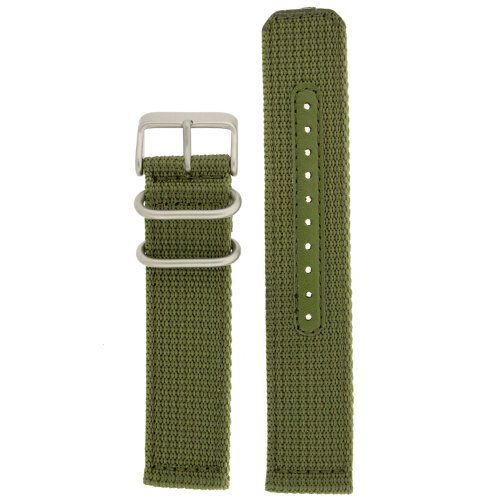 Nylon Watch Band Fits Seiko Watches Strap Military Green Stainless Heavy Buckle 18 millimeter 18mm Nylon Watch Band Green Sport Style Fits Seiko Watches. Two-Piece Durable Nylon Strap with Stainless Steel Buckle and Lugs Matte Finish. Heat Sealed Edges and Sizing Holes for Strength. Band Length: 3 3/4 Buckle Side, including Buckle and 5 Hole Side. Fits Seiko Models: SNK803K2, SNK805K2, SNK807K2,... #Tech_Swiss #Watch