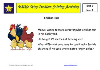 The third set of Wilkie Way problem solving activities for mastery of mathematics.These problems provide students the opportunity to apply known mathematics, create new mathematics and develop a deeper understanding of mathematical concepts. These tasks can be used with whole class with students working in pairs or small groups.