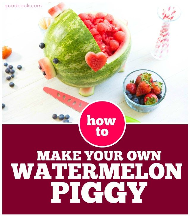 How to Make a Watermelon Pig- It's Easier Than You Think!