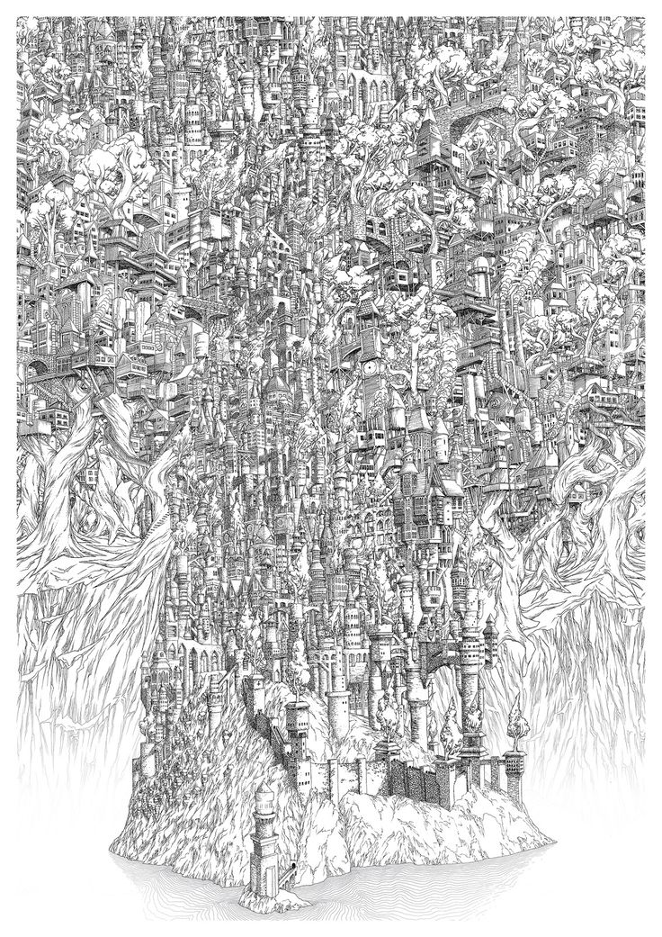 These Intricate Island Castle Drawings Will Make You Dizzy The Creators Project