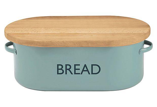 """genius!  cutting board built in! Summerhouse """"Bread"""" Box, Blue on OneKingsLane.com"""
