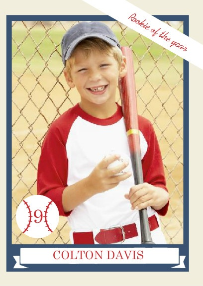 Rookie Of The Year Trading Card Baseball Party Invitation By PurpleTrail