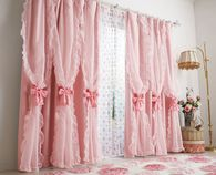 Frilly Pink Curtains