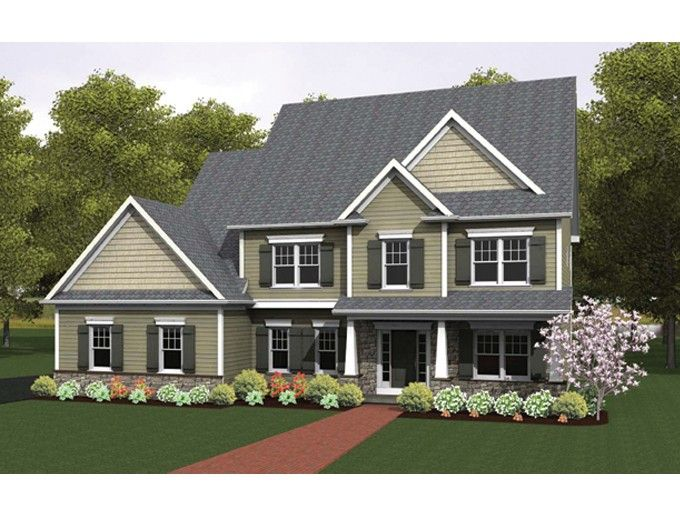 Colonial House Plan with 2436 Square Feet