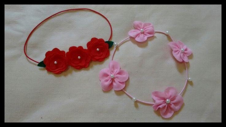 Headband flor de feltro