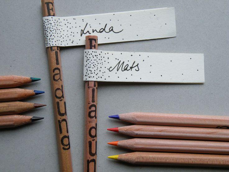 Einladungskarten - Stifte als Einladung im 8er Set - ein Designerstück von atelier35 bei DaWanda