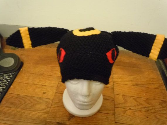 Umbreon pokemon beanie hat by heathermakeshats on Etsy, $20.00