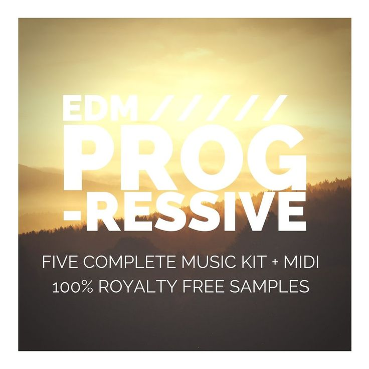 NEW > EDM PROGRESSIVE (24bit WAV LOOPS - 5 Complete Music Kit + Midi + Vocals)