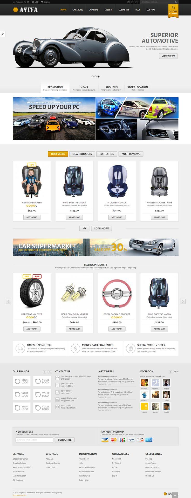 SNS Aviva - Premium Responsive Magento Theme #web #design #magento
