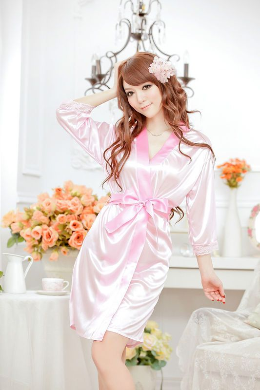 New Sexy Pink Women's Nightdress Sleepwear Robe Bathrobes G String Thongs  Lingerie #Affiliate