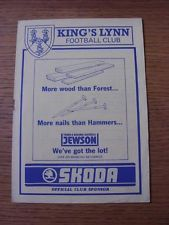 27/11/1990 King's Lynn v Grantham Town [Evans Halshow Floodlit Cup