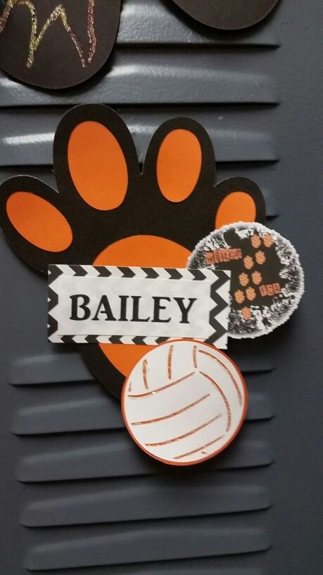 Jr High  volleyball locker decorations