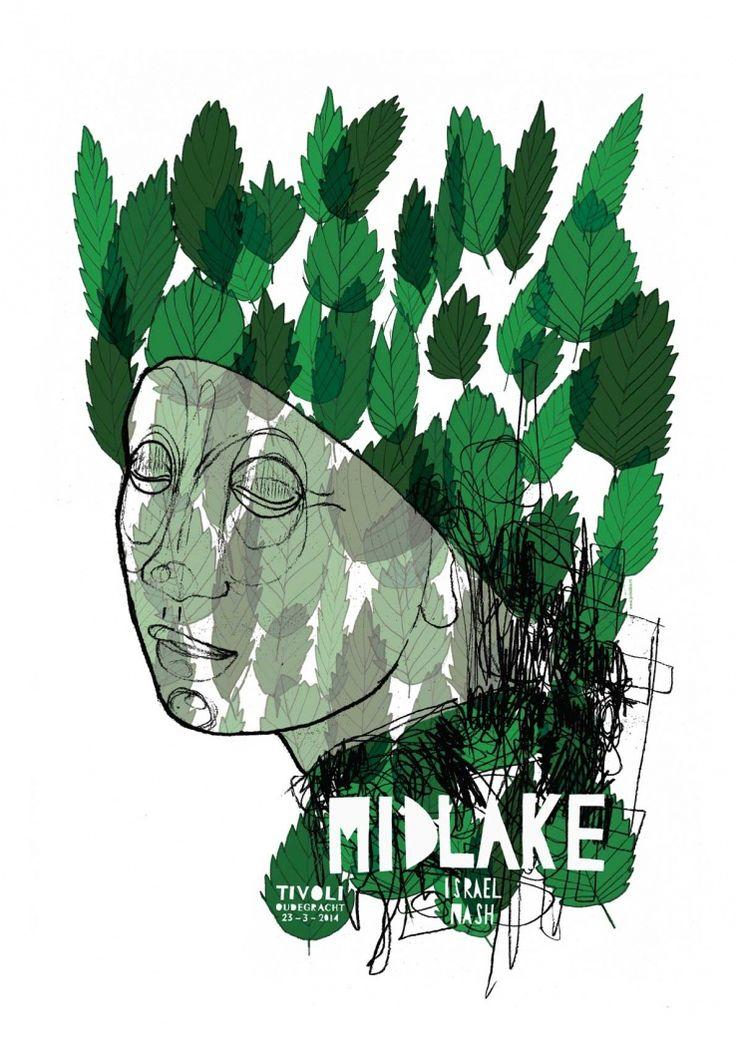 Gig Poster Midlake Joris Diks Handprinted Stuff Com Gig Posters Poster Art