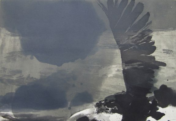 Hughie O'Donoghue – The Round Lake, Etching and aquatint (3 plate process), 1991