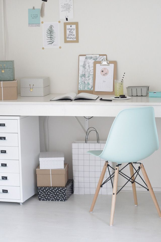#workspace #pastel # Eames chair