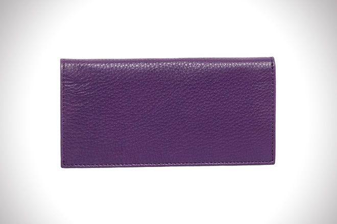 Paul & Taylor Men's Leather Checkbook Cover Bifold Wallet – Multiple Colors