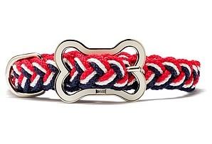 sailor's knot collar w/'bone' buckle $15: Redwhiteblu Collars, Sailor Knot, Red White Blue, Dogs Collars, Pet, Sailors Knot, 4Th Of July, Knots, Knot Collars