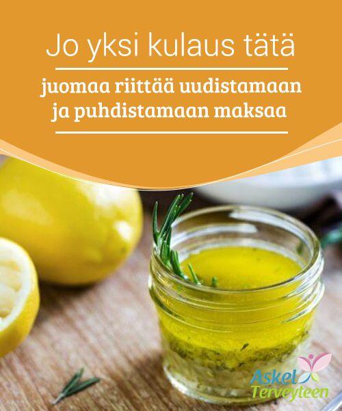 Jo yksi kulaus tätä juomaa riittää uudistamaan ja puhdistamaan maksaa Oliiviöljyn sisältämät rasvahapot ja #sitruunamehun sisältämät #antioksidantit auttavat #puhdistamaan maksan säätelemällä kolesterolin ja triglyseridin määriä. #Luontaishoidot