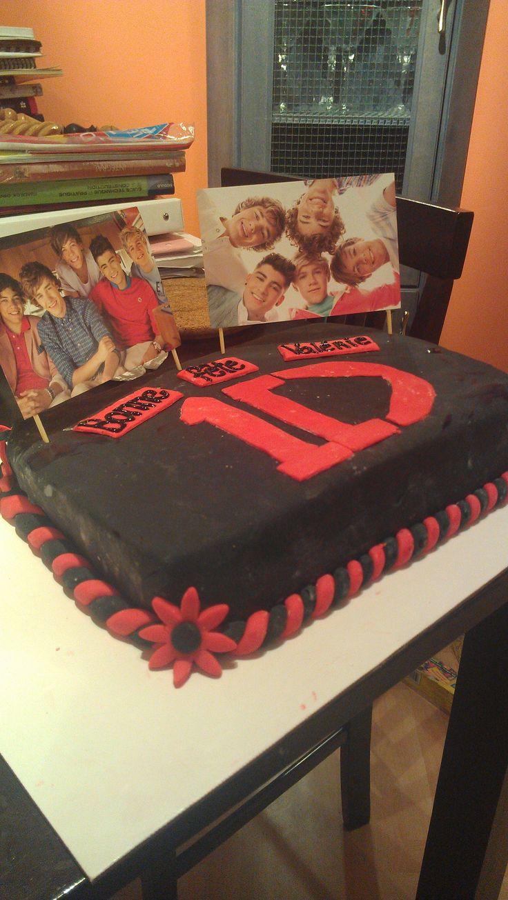 Gâteau One Direction, autre angle
