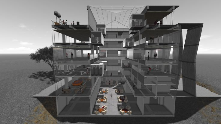 architecture the first semester of Junior    university mail building remodeling project (lumion render)