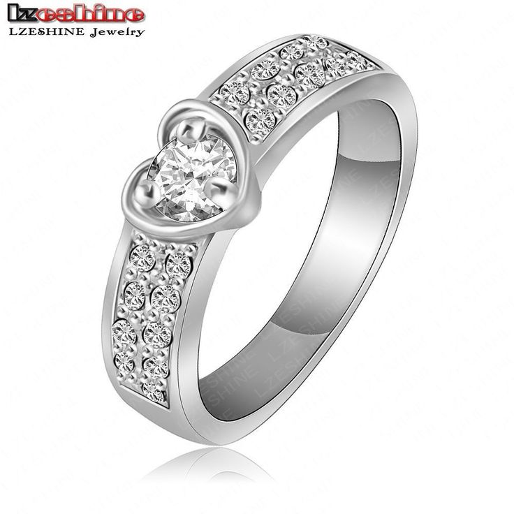 US $1.90 LZESHINE Brand Romantic Ring Rose Gold/Silver Plate Heart Ring SWA Element Austrian Crystal aneis Freeshipping Ri-HQ1052 aliexpress.com