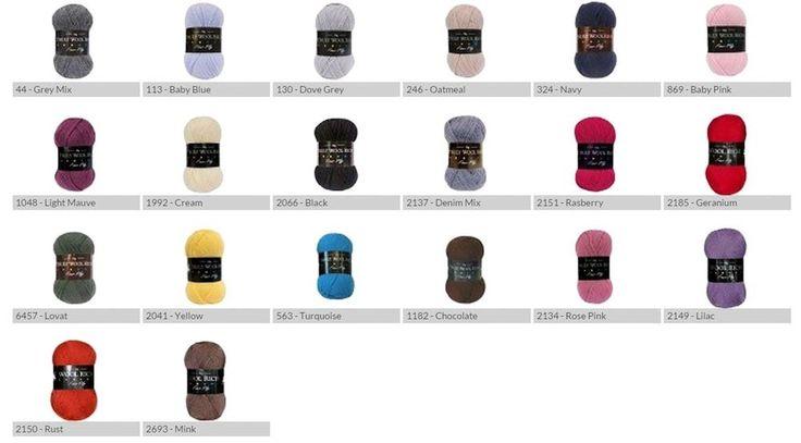 Cygnet Truly Wool Rich 4 Ply Yarn 50g Balls - Ideal For Socks (Choice of Shades)