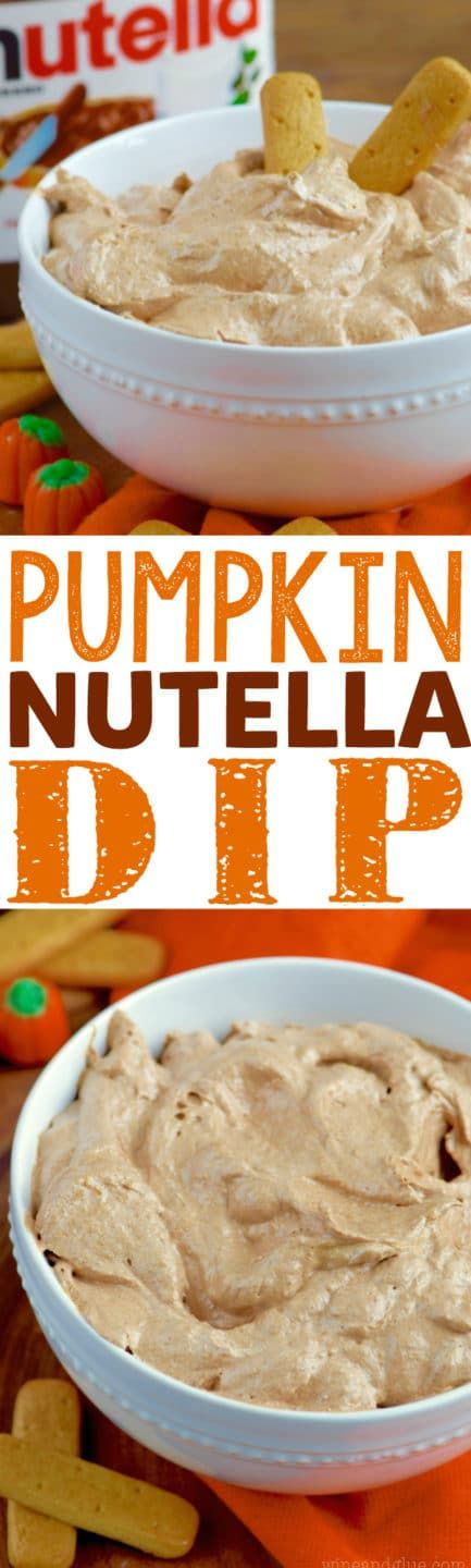 This Pumpkin Nutella Dip is only five ingredients and SO delicious!