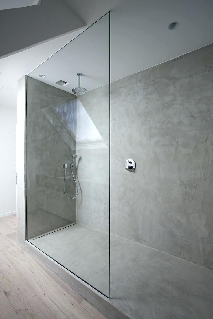 Concrete Showers Walls Obsessed With Concrete Would Love To Shower In It A Fave Minimalism Interior Minimalist Bathroom Concrete Bathroom