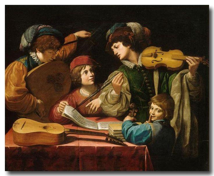 Leonello Spada (1576-1622) - Le Concert, vers 1615, Huile sur toile, 143x114,5cm, Musée du Louvre, Paris