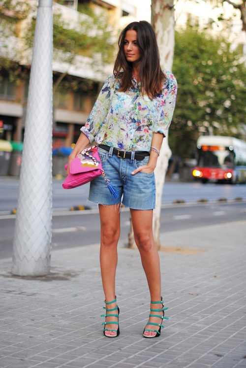 summer #denim #floral #heels =killer look