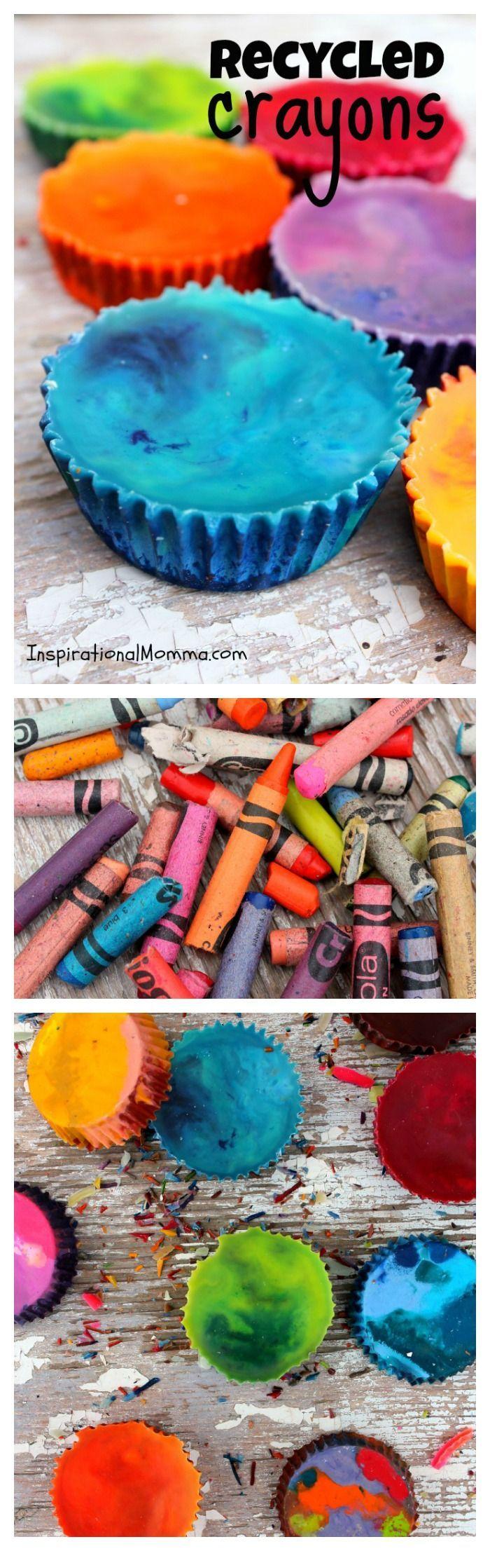 Recycelte Buntstifte – Werfen Sie diese benutzten und missbrauchten Buntstifte nicht weg! Bringen Sie sie ba …   – Recycling unit