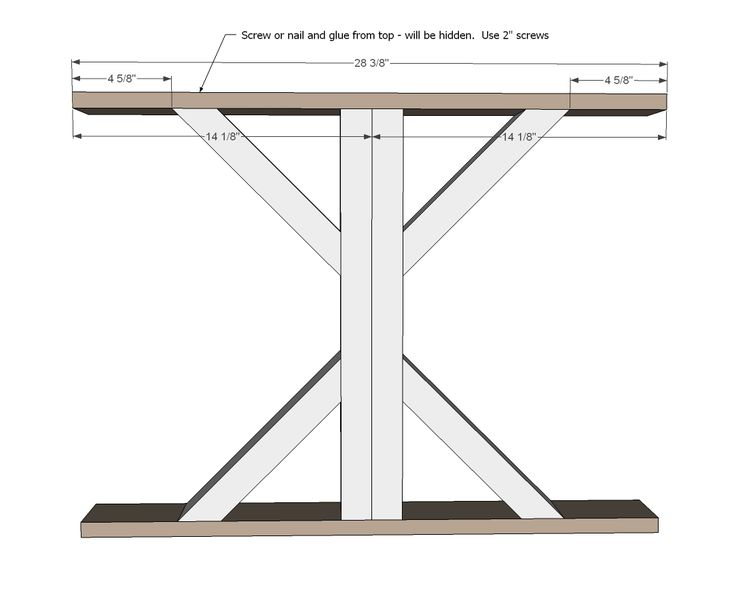 25 best ideas about white farmhouse table on pinterest for Post trestle farm table plans