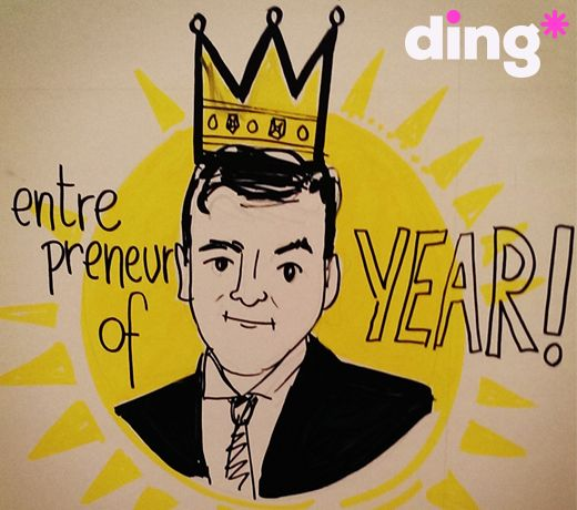 An unbelievable achievement for our CEO, Mark Roden (@markrodending) who was last night crowned The EY Entrepreneur Of The Year 2014. We are an extremely proud team at ding* today. All hail our new King of ding #EOY2014