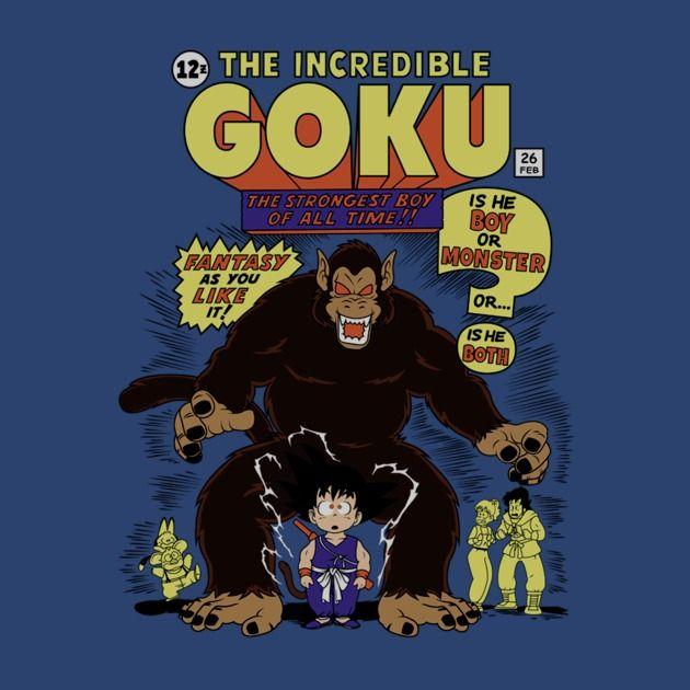 THE INCREDIBLE GOKU T-Shirt $12.99 Dragon Ball tee at Pop Up Tee!