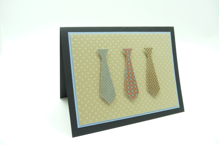 Men's Tie Father's Day Card, Classy Happy Father's Day Card, Handmade Paper Greeting Card. $4.25, via Etsy.