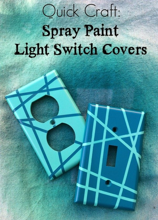 Check out the tutorial for easy DIY Spray Paint Light Switch Covers @istandarddesign
