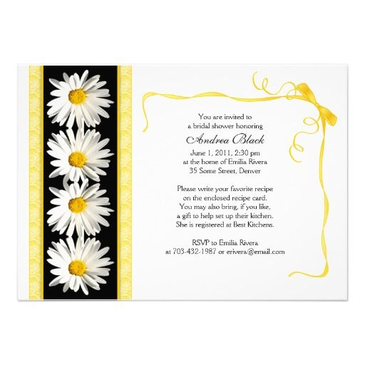 shasta daisy wedding bridal shower invitation - Daisy Wedding Invitations