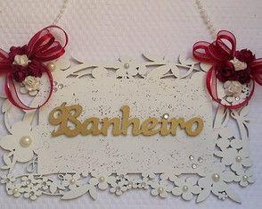 PLACA BANHEIRO OU LAVABO