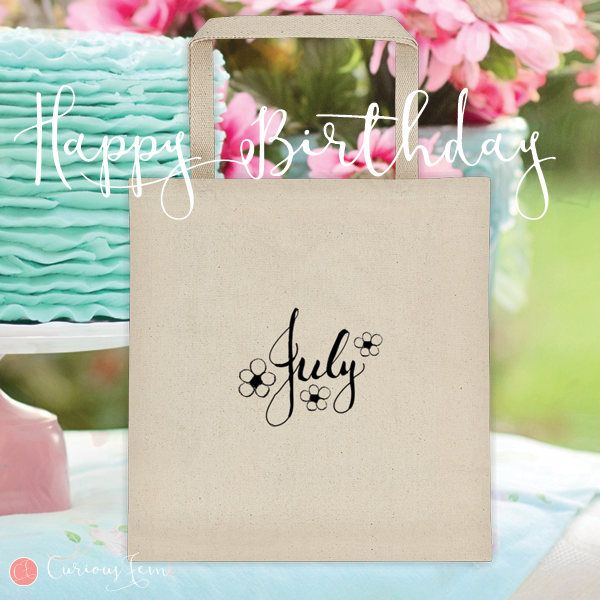 July Birthday Tote Bag – 100% Cotton – Printed Front and Back #fashion #july  #birthday #happybirthday #tote #totebag #printed #pencildrawing