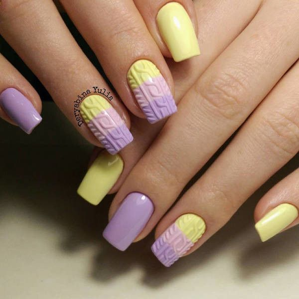 yellow matte nails - photo #41