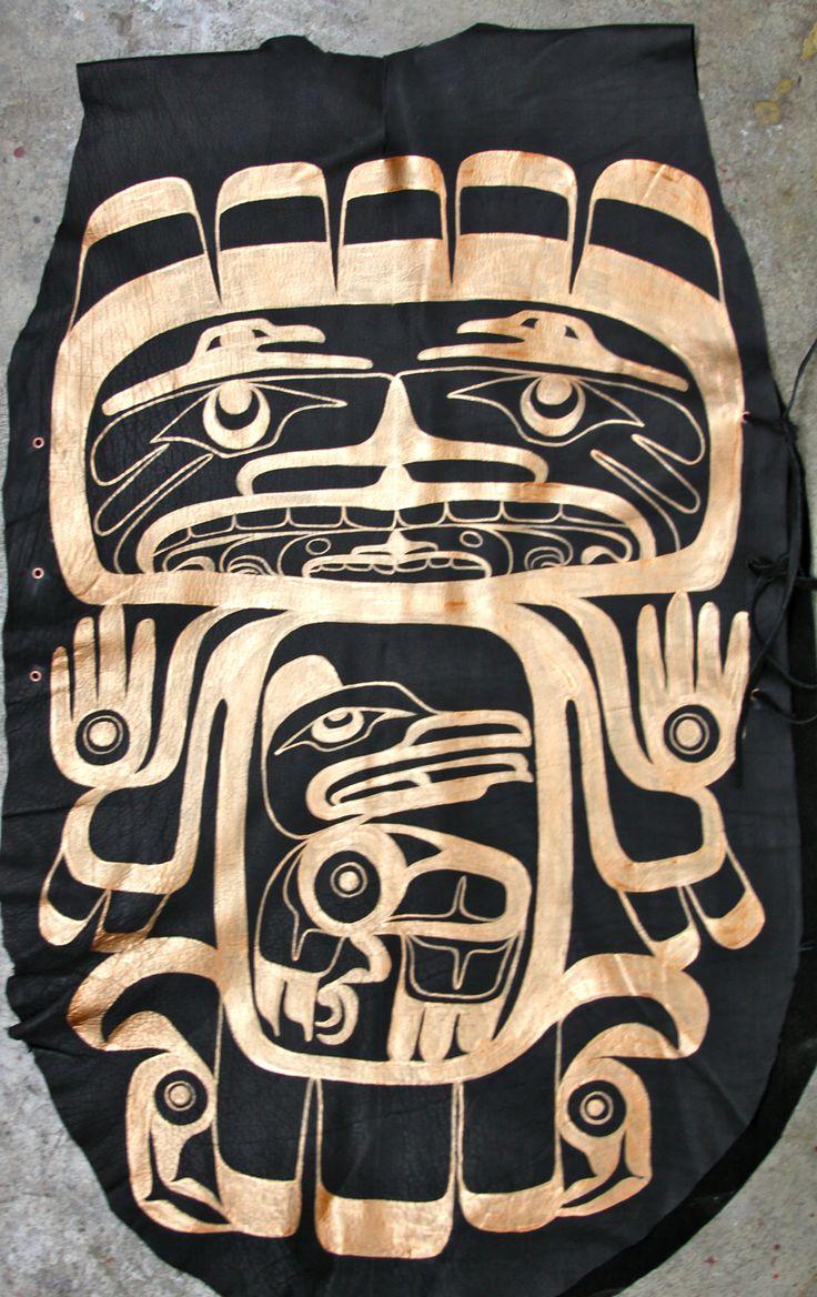 Raven Dance Tunic Elk Skin, Acrylic Paint Collection of Nick Dangeli Vancouver, BC January 2013