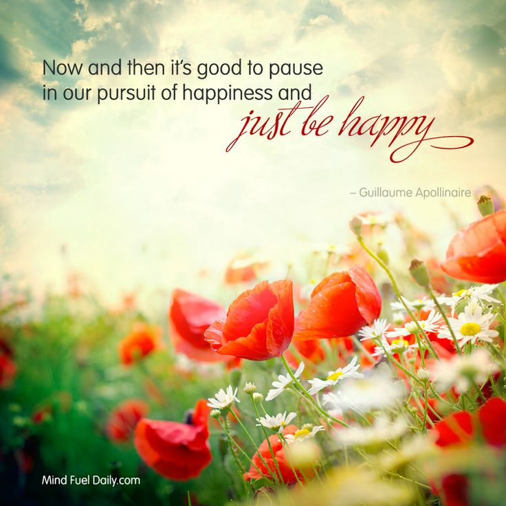 Just be happy — Mind Fuel Daily