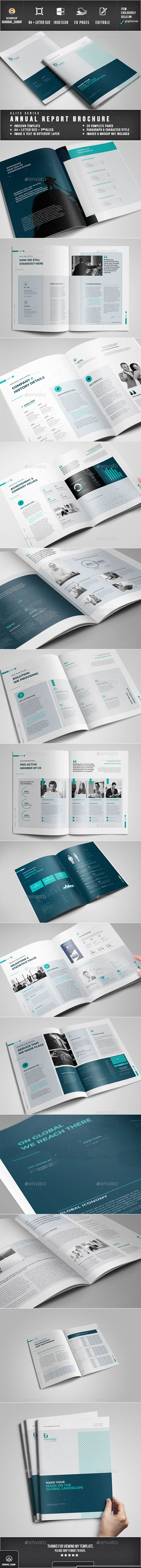 Annual Report Template InDesign INDD. Download here…