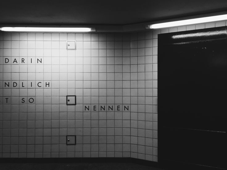 "ICON: I found this ""NENNEN"" as part of the art of the U-Bahn metro station Westhafen (part 2)"