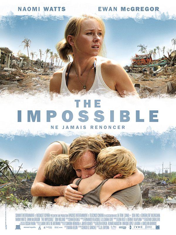 The Impossible est un film de Juan Antonio Bayona avec Naomi Watts, Ewan McGregor. Synopsis : L'histoire d'une famille prise dans une des plus terribles catastrophes naturelles récentes. The Impossible raconte comment un couple et leurs enfants