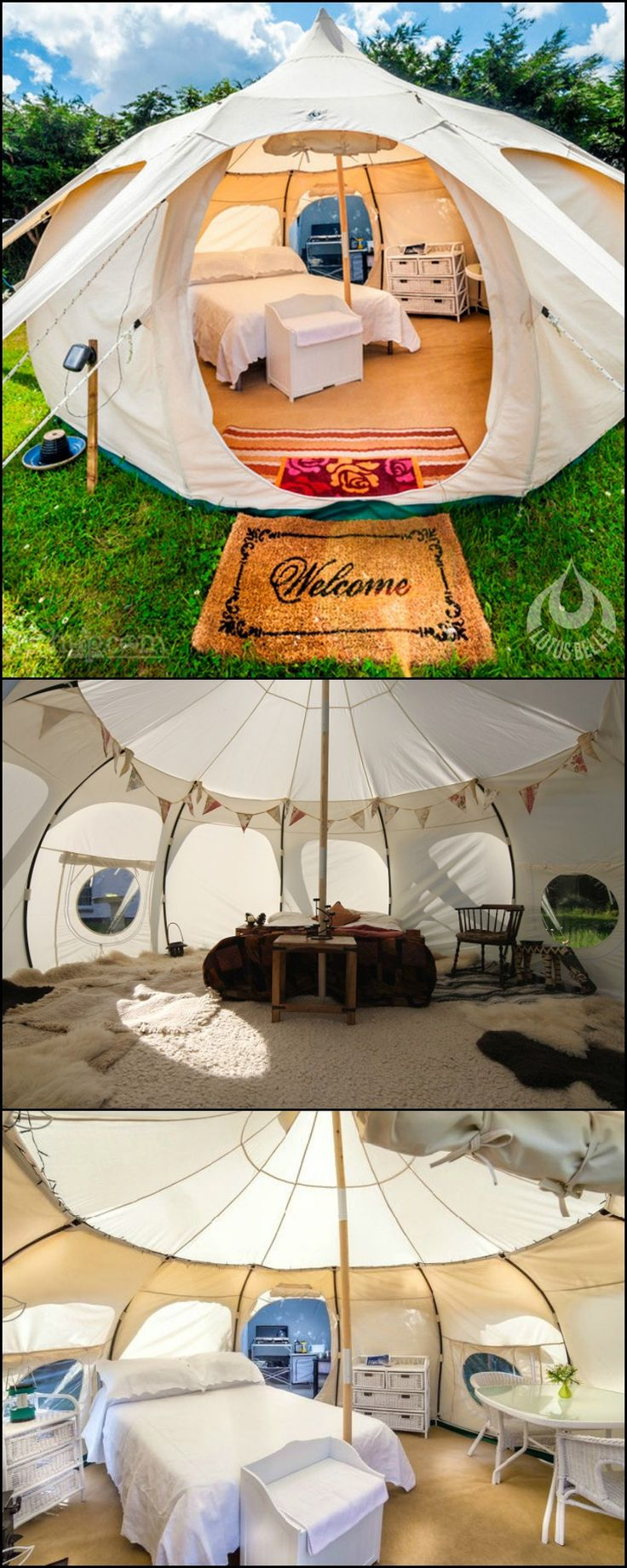 Even those who consider themselves homebodies will love spending more time outdoors with a Lotus Belle!  The Lotus Belle tents are great quality sheds that you can use anytime of the year. It's perfec (Camping Hacks)