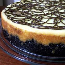 Cheesecake met chocoladestukjes en koekjesdeeg (chocolate chip and cookie dough)
