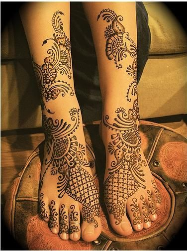 Henna or Mehendi, Feet or or Foot Designs Collection 10